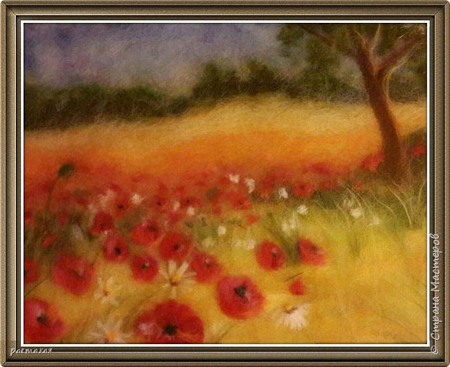 Есть такая Мастерица Мария Аскерова.  Очень мне нравится ее нежная живопись. Так как это мои первые работы. Учусь у Мастеров. Пока не придет свое. Вот по её мастер классу и сделан этот пейзаж. фото 1