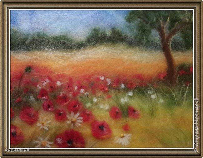 Есть такая Мастерица Мария Аскерова.  Очень мне нравится ее нежная живопись. Так как это мои первые работы. Учусь у Мастеров. Пока не придет свое. Вот по её мастер классу и сделан этот пейзаж. фото 2