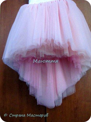 Последнее время везет мне на заказы платьев для девочек. А я это очень люблю - это же сама Красота и Нежность!  Первое платье на 5илетнюю девочку, сшито из хлопка, с верхней юбкой из мягкого нейлонового фатина, отделанного эластичным кружевом. фото 7