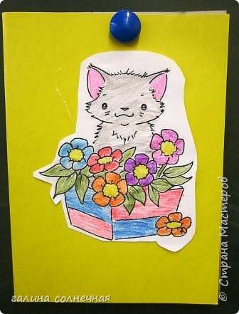 Здравствуйте. Скоро 8 марта. Можно сделать с детьми открытку-подарок. фото 6