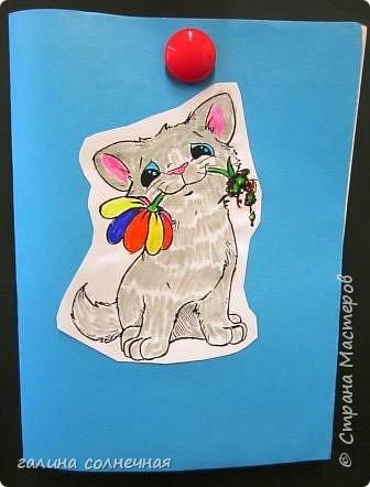 Здравствуйте. Скоро 8 марта. Можно сделать с детьми открытку-подарок. фото 2