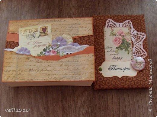 Обложка на паспорт, а рядом коробочка для него фото 1