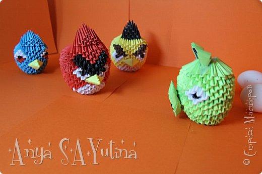 Привет) Angry Birds-одна из самых популярных игр в мире. В ней есть много разных и всем знакомых персонажей: это и птицы, и их враги свиньи. В этом мастер классе я расскажу и покажу вам, как сделать красную птичку техникой модульное оригами. Как сделать голубую птицу техникой модульное оригами: http://stranamasterov.ru/node/976372 Как сделать зелёную свинью техникой модульное оригами: http://goo.gl/jiu2KO Жёлтая птица: http://stranamasterov.ru/node/981599 фото 5