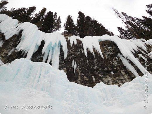 Добрый всем зимний денек! В этот раз хочу рассказать о нашей поездке зимой в горы. Мы вообще редко зимой ездим, но уж больно в этом году теплая зима. Недавно выбрались в Johnston Canyon, это недалеко от Банфа, было тепло и мы прекрасно погуляли. Посмотрели на скалолазах лазающих по ледовым стенкам замерзшего водопада.  Ни разу не были там зимой - очень красиво, правда дорога скользкая, дети половину пути проехали по льду... Дорога вдоль каньона проложена с перилами, так что идти было удобно.  фото 20