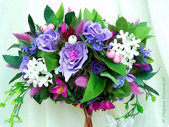 Цветы из фоамирана ручная работа. фото 2