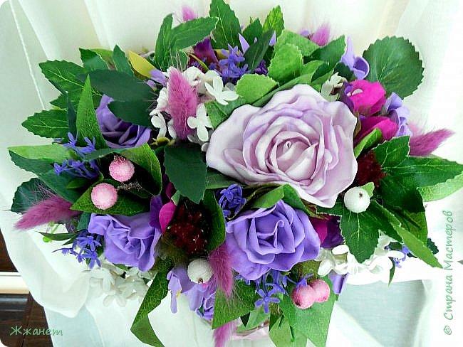 Цветы из фоамирана ручная работа. фото 3
