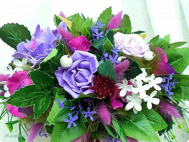 Цветы из фоамирана ручная работа. фото 4
