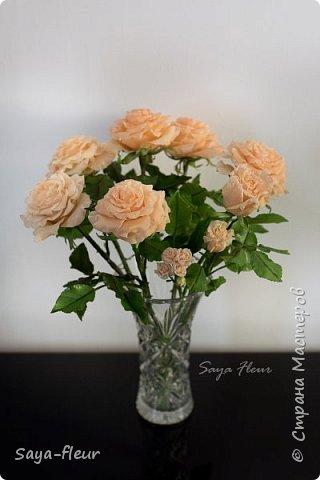 Здравствуйте, хотела бы показать свою работу, мои любимые розочки, стараюсь сделать соотношение качества и доступности, цветы пахнут настоящими розами. Сделаны из полимерной глины. фото 8