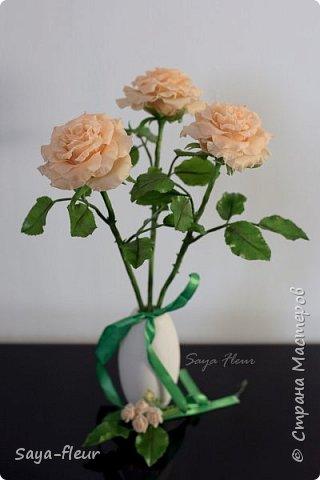 Здравствуйте, хотела бы показать свою работу, мои любимые розочки, стараюсь сделать соотношение качества и доступности, цветы пахнут настоящими розами. Сделаны из полимерной глины. фото 13