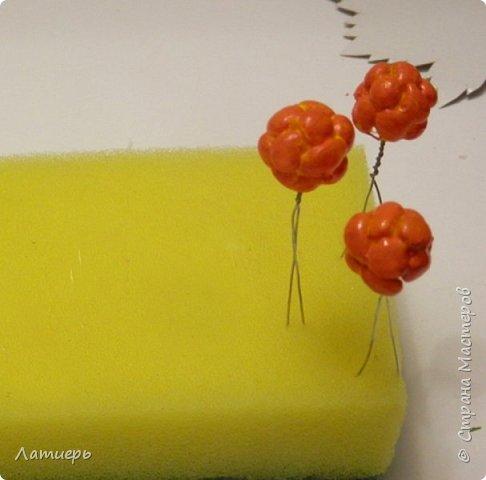 Сегодня я покажу вам не совсем обычный способ изготовления ягод. Надеюсь, что он кому-нибудь пригодится или сподвигнет на новые свершения, и таким способом вы попробуете сделать не только морошку, но и , например, малину или ежевику)) фото 9