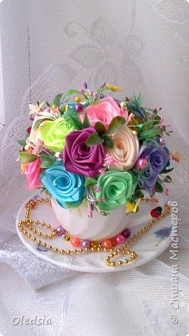 Всем привет!!! Новая чашечка...как же тяжело мне даются такие розы!!! Спасибо Мадине Галиевой и Оленьке Kir за вдохновение и мк!!! За  фото прошу прощения, ну не получается с телефона сделать качественные фото фото 1