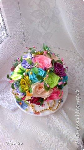 Всем привет!!! Новая чашечка...как же тяжело мне даются такие розы!!! Спасибо Мадине Галиевой и Оленьке Kir за вдохновение и мк!!! За  фото прошу прощения, ну не получается с телефона сделать качественные фото фото 3
