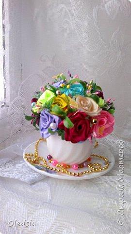 Всем привет!!! Новая чашечка...как же тяжело мне даются такие розы!!! Спасибо Мадине Галиевой и Оленьке Kir за вдохновение и мк!!! За  фото прошу прощения, ну не получается с телефона сделать качественные фото фото 2