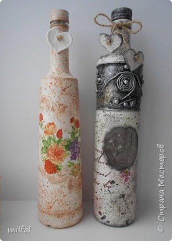 Декупаж бутылок. фото 1