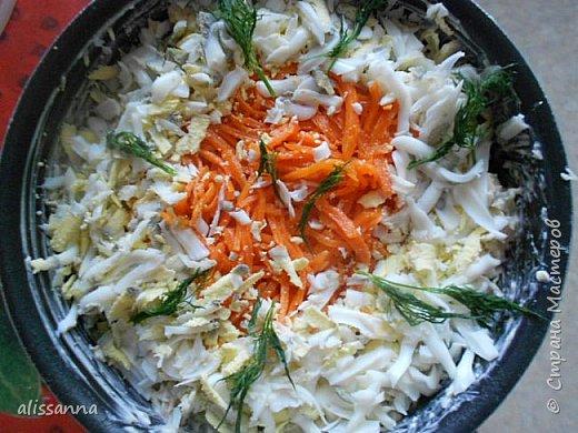 Доброе время суток....жители Страны....))))) Предлагаю вашему вниманию салат из продуктов...которые... как правило...есть в любом холодильнике...получается свежий и сочный на вкус....))))))))  Для салата понадобится следующее:  куриная грудка белокочанная капуста огурец свежий сыр морковь по-корейски яйцо вареное зелень соевый соус майонез фото 1