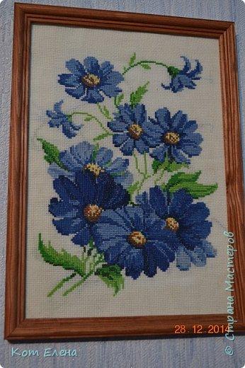 """""""Синий букетик"""" (29*20 см) одна из первых работ фото 1"""