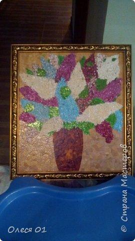 Картины из яичной скорлупы. фото 4