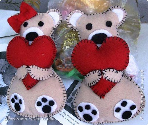 Романтическая открытка-игрушка на день Святого Валентина
