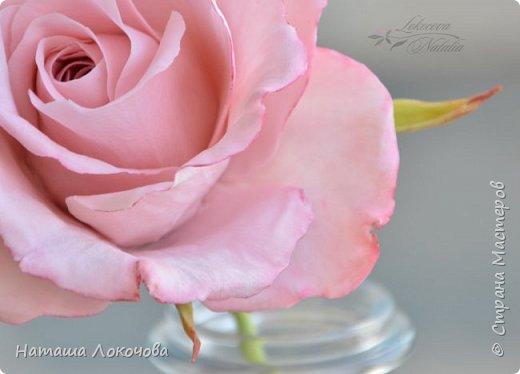 Роза из холодного фарфора. фото 2