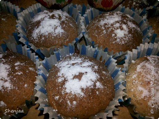 Кексы на кефире с орехами  фото 3