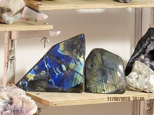 """Живу я на Кольском полуострове за Полярным кругом. Наш край очень богат минералами. Здесь обитает около четверти всех известных в природе минералов, поэтому наша Кольская земля считается настоящей природной шкатулкой самоцветов. В нашем небольшом городе Апатиты ежегодно проходит выставка минералов """"Каменный цветок"""". В этом году она проходила 23 - й раз.Приезжают очень много участников с разных городов России и даже из - за границы. Но надо сказать, что в этом году кризис сказался и на этом нашем мероприятии. - некоторые постоянные участники не приехали.  Прежние фоторепортажи можно посмотреть здесь http://stranamasterov.ru/node/726701,  здесь http://stranamasterov.ru/node/310568  и здесь http://stranamasterov.ru/node/516265 .  В своих репортажах каждый раз стараюсь показать те камни и работы, которых не показывала в предыдущих репортажах. Кстати в этом году была на выставке дважды. Один раз пошла сама с работы в будний день. А второй раз вместе с мужем в субботу, так в субботу ( по сравнению с рабочим днём) было невероятно много народу, ко многим столикам и витринам было не протиснуться. фото 2"""