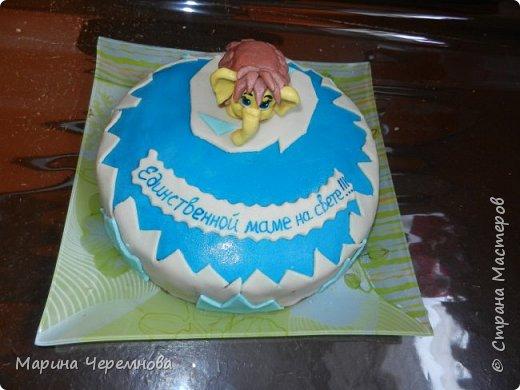 Самый первый тортик для любимой мамочки на день её рождения!!! фото 1