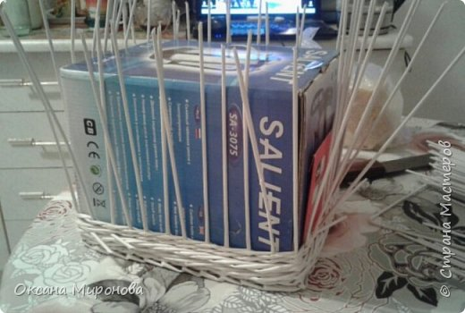 Здравствуйте жители страны мастеров, я к вам с новыми плетушками-коробушками, мои первые заказики. фото 4