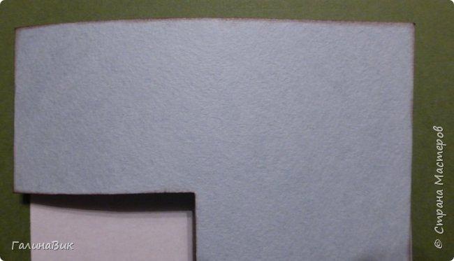 """Предлагаю сделать к празднику объемную открытку.  Необходимые материалы и инструменты: акварельная бумага (двусторонняя цветная или белая), белый картон, 1 лист красной офисной бумаги, клей-карандаш и клей """"Момент"""", скрепка, ножницы, линейка, карандаш.  фото 7"""
