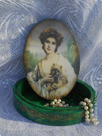 Шкатулочка с моей любимой имитацией малахита.  фото 1