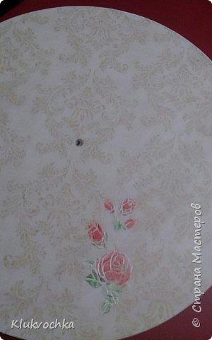 Доброго всем дня, ночи! Начнем с последнего....С сонного ангелочка))) это под влиянием дня Святого Валентина создалось в подарок знакомой))  заготовочка довольно большая, диаметром 30 см. Это третий ангелок из рисовой карты, которую я использовала ранее  http://stranamasterov.ru/node/992654  фото 5