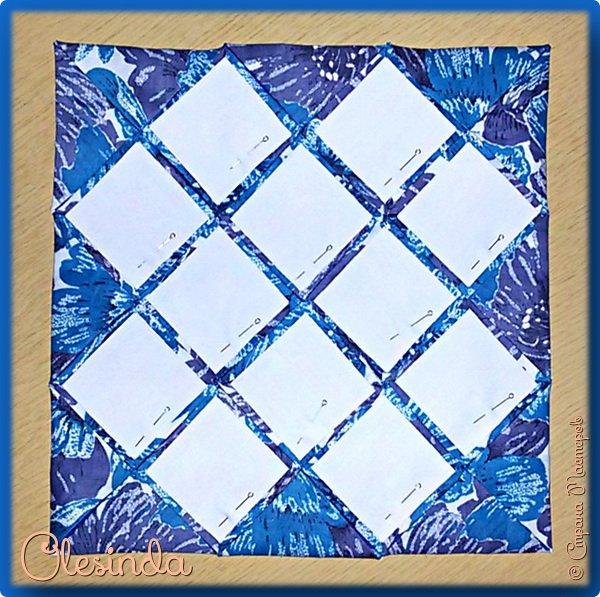 Здравствуйте! Многие мастерицы лоскутного шитья знакомы с техникой пэчворк «Кафедральные окна» или, как ее еще называют, «Витражные окна», «Домский витраж», «Готические окна», «Церковные окна» и «Магический квадрат». Также как и названий, существует несколько способов создания такого блока. В этом мастер-классе я покажу 5 из них.  (Все приведенные ниже приемы придуманы не мной, я лишь собрала их для вас в одном посте.) фото 31