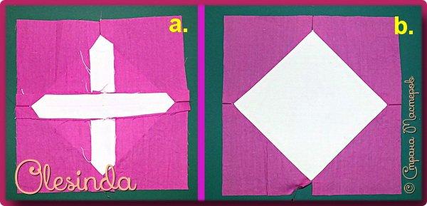 Здравствуйте! Многие мастерицы лоскутного шитья знакомы с техникой пэчворк «Кафедральные окна» или, как ее еще называют, «Витражные окна», «Домский витраж», «Готические окна», «Церковные окна» и «Магический квадрат». Также как и названий, существует несколько способов создания такого блока. В этом мастер-классе я покажу 5 из них.  (Все приведенные ниже приемы придуманы не мной, я лишь собрала их для вас в одном посте.) фото 51