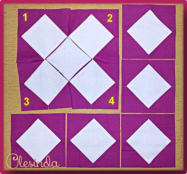 Здравствуйте! Многие мастерицы лоскутного шитья знакомы с техникой пэчворк «Кафедральные окна» или, как ее еще называют, «Витражные окна», «Домский витраж», «Готические окна», «Церковные окна» и «Магический квадрат». Также как и названий, существует несколько способов создания такого блока. В этом мастер-классе я покажу 5 из них. (Все приведенные ниже приемы придуманы не мной, я лишь собрала их для вас в одном посте.) фото 59