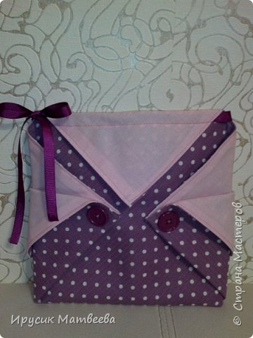 Вот такая корзинка-мешочек у меня получилась..можно использовать и как косметичку,т.к.есть завязки...и как подарочную упаковку... фото 9