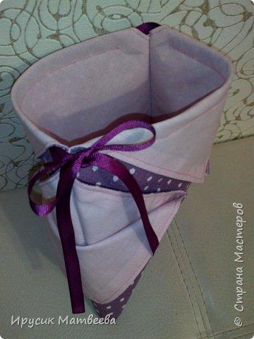 Вот такая корзинка-мешочек у меня получилась..можно использовать и как косметичку,т.к.есть завязки...и как подарочную упаковку... фото 11