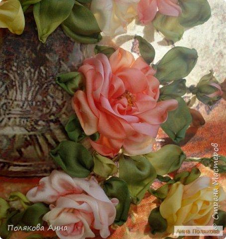 Вышито на принте размером 29х36см лентами из натурального шелка  по картине Альберта Вильямса.  фото 5