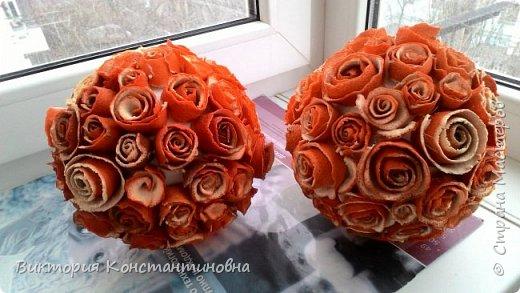 шары из мандариновых роз