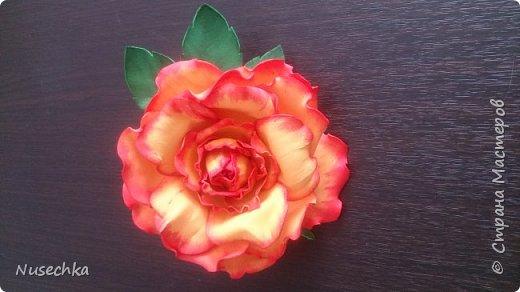 Моя первая роза из фоамирана фото 1