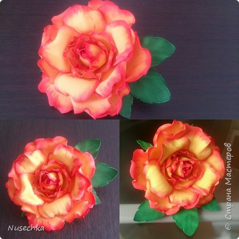 Моя первая роза из фоамирана фото 2