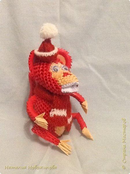 Вот наконец выложила свою модульную обезьянку. Спасибо за МК Юсовой Татьяне http://stranamasterov.ru/node/952518?c=favorite  фото 7