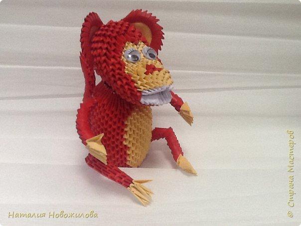 Вот наконец выложила свою модульную обезьянку. Спасибо за МК Юсовой Татьяне http://stranamasterov.ru/node/952518?c=favorite  фото 1