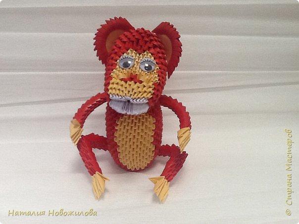 Вот наконец выложила свою модульную обезьянку. Спасибо за МК Юсовой Татьяне http://stranamasterov.ru/node/952518?c=favorite  фото 4