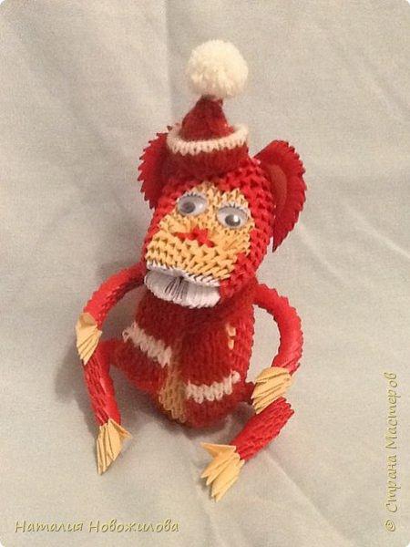 Вот наконец выложила свою модульную обезьянку. Спасибо за МК Юсовой Татьяне http://stranamasterov.ru/node/952518?c=favorite  фото 6