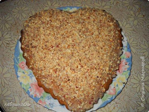 у нас уже традиция на День Святого Валентина печь кекс в форме сердца... на этот раз кекс был с орешками, шоколадом и маком....вкуснятина.. фото 1