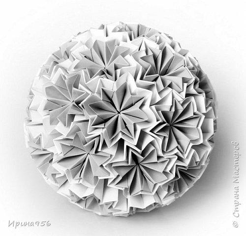 Chrysanthemum by Leroy МК http://stranamasterov.ru/node/93470 30 модулей 7 х 7 см. Размер около 9,5 см. фото 10