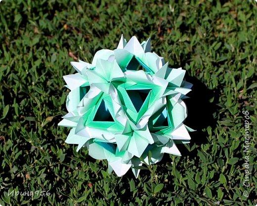 Chrysanthemum by Leroy МК http://stranamasterov.ru/node/93470 30 модулей 7 х 7 см. Размер около 9,5 см. фото 19