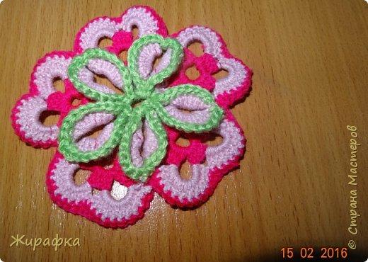 Вяжем цветок-интригу... фото 11