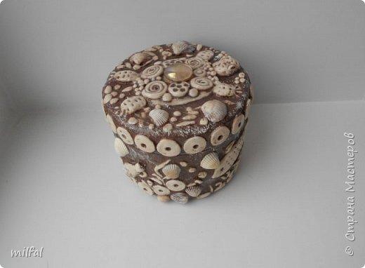 """Очередная шкатулочка""""морская черепаха"""" из солёного теста,ракушек. фото 7"""
