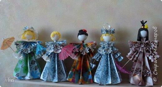 Куклы - модульное оригами фото 9
