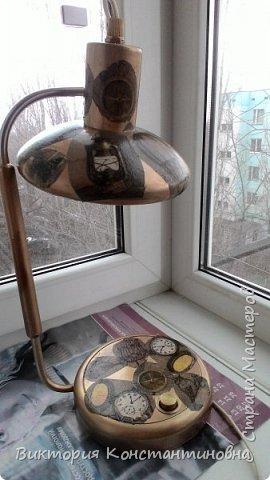 декупаж старой настольной лампы